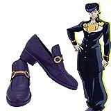 leem JoJo's Bizarre Adventure Higashikata Josuke Blue Cosplay Boots Shoes for Costume