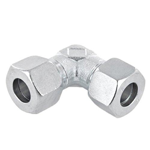 Winkel 90° Schneidringverschraubung Stahl verzinkt - W 8 L - für 8 mm Rohr