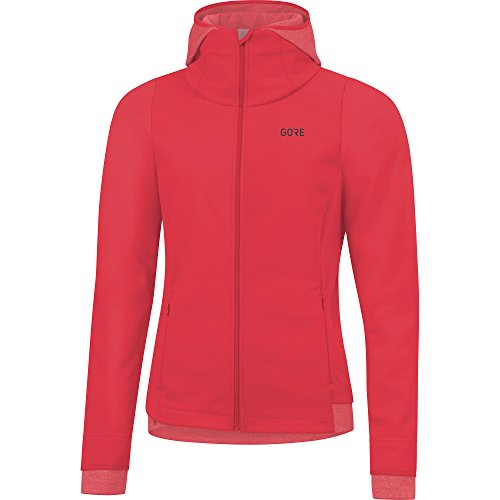 GORE Wear Damen Winddichte Kapuzen-Laufjacke, R3 Women GORE WINDSTOPPER Thermo Hoodie, 36, Pink, 100378