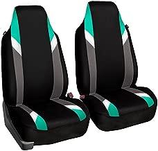 FH Group FB133102 Premium Modernistic Pair Set Seat Covers Mint/Black - Fit Most Car, Truck, SUV, or Van