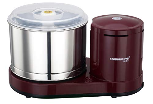 Sowbaghya Edge 2 LTR Table top Wet Grinder (Without Attachments) (Maroon)
