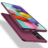 X-level Samsung Galaxy A51 Hülle, [Guardian Serie] Soft Flex Silikon Premium TPU Echtes Handygefühl Handyhülle Schutzhülle für Samsung Galaxy A51 Hülle Cover - Weinrot