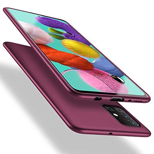 X-level Funda Samsung Galaxy A51 4G, Carcasa para Samsung Galaxy A51 Suave TPU Ultrafina Suave Silicona Anti arañazos, Protección a Bordes y Cámara, Case para Samsung Galaxy A51 - Vino Rojo