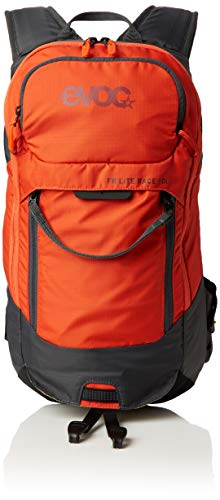 evoc FR LITE Race Protektor Rucksack, Carbon Grey/Orange, M/L