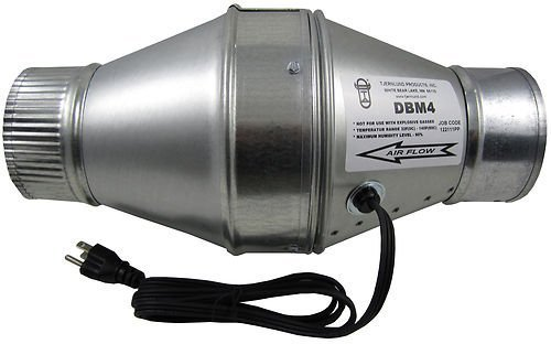 """Tjernlund DBM4 Duct Booster Fan for 4"""" Flex or Metal Duct (100 CFM)"""