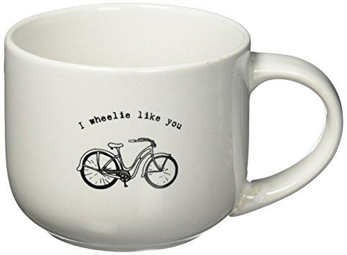 'I Wheelie Like You' Vintage Bicycle Latte Mug 14 oz Deluxe Double-Sided Mug