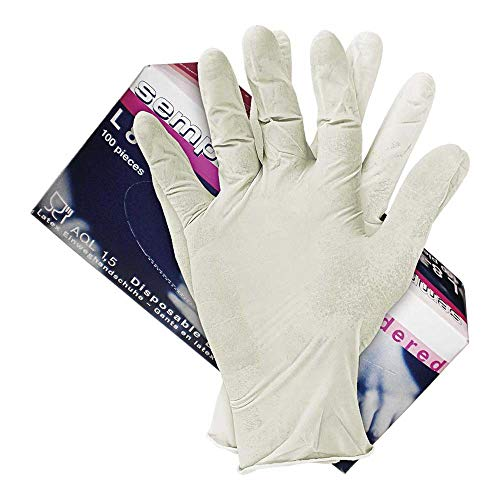 Semperguard Ralat-SEM-P_L Latexhandschuhe, Transparent, Größe L, Packung mit 100 Handschuhen