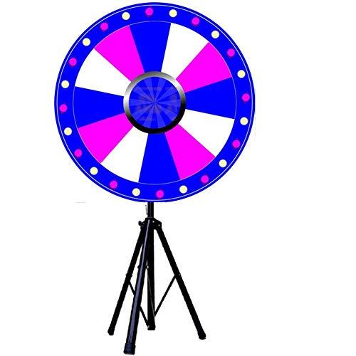 """24"""" Color-Preis Rad, Fortune-Roulette Spinning Spiel Mit Dry Erase, Metallständer Für Party Karneval Messe Regenbogen-Stativ Einstellbar"""
