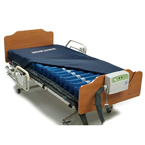 Meridian Ultra-Care II Hospital Bed Air Mattress For Bed Sores Treatment - Medical Air Mattress System Includes 8 Inch Mattress, Cover and 8 LPM Air Pump