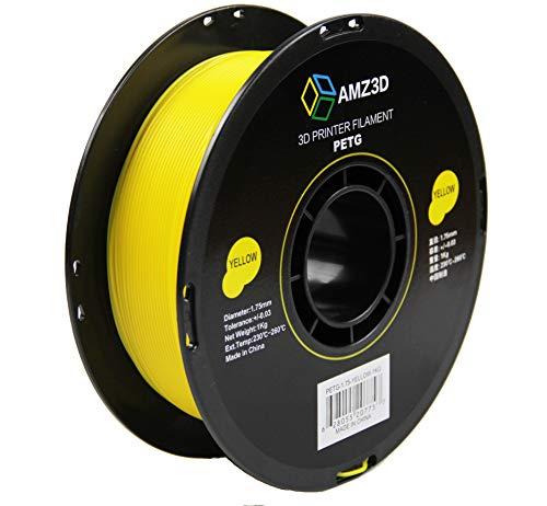 1.75mm Yellow PETG 3D Printer Filament - 1kg Spool (2.2 lbs)