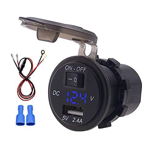 Omabeta Cargador De Teléfono Digital LED De 23,6 Pulgadas para Piezas De Automóvil(Azul)