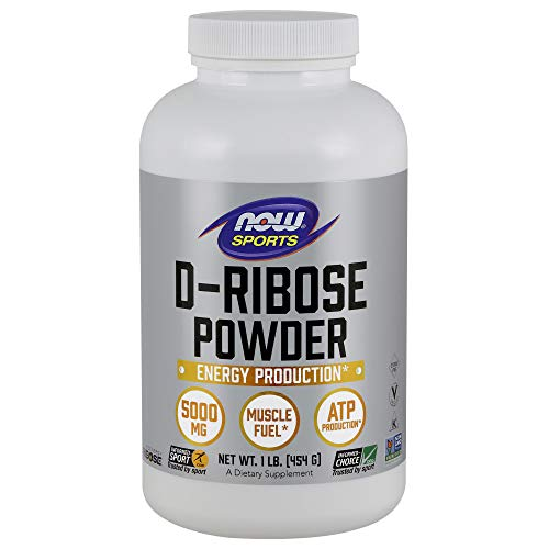 NOW Sports Nutrition, D-Ribose Powder 5000 mg, Certified Non-GMO, Energy Production*, 16-Ounce