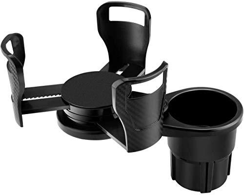 Makerstack Soporte para vasos de coche doble ajustable y extensible, apto para botellas de agua grandes.