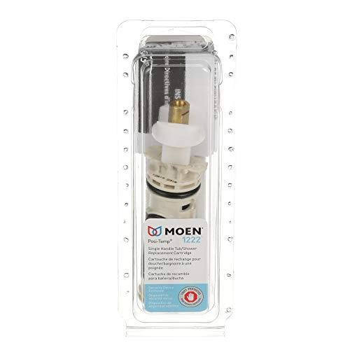 Moen 1222 One-Handle Posi-Temp Faucet Cartridge Replacement for Moen Tub Shower and Shower Only Configurations, Brass and Plastic