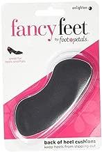 Foot Petals Women's Back of Heel Cushions, Black, No Size M US