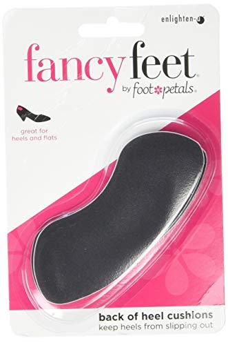 Foot Petals Fancy Feet Women's Back of Heel Cushions, Black, 1 Pair