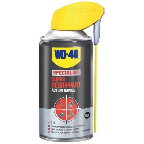 WD-40 Specialist • Super Dégrippant • Spray Double Position • Efficacité Immédiate • Dégrippe rapidement et facilement • Résistant à l'Eau • Compatible Tous Métaux • 250 ML