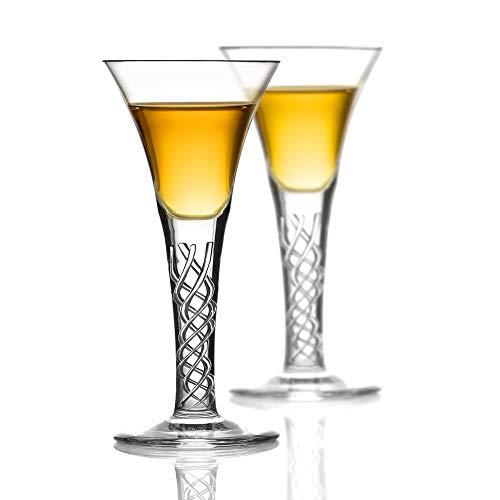 Eburya 2 Jakobiten Whisky Gläser - Jacobite Dram - Handgefertigt aus Kristallglas