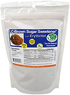 Low Carb Natural Sweetener - Brown Erythritol - LC Foods - Paleo - Gluten Free - Diabetic Friendly - Low Carb Sugar - 15.9...