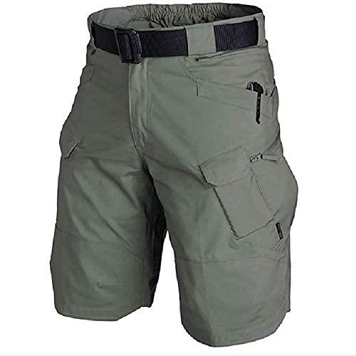 Pantalones Cortos Tácticos Impermeables Mejorados 2021 para Hombres?Cargo Shorts Bermudas Hombre Pantalones Cortos Laboral