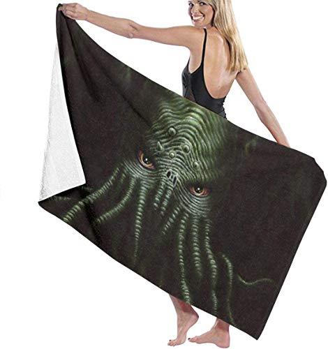 FETEAM Cthulhu Monster Toalla de baño Mantas Suaves para la Piel Toalla de Piscina Toalla de Piscina Gimnasio Toalla de Yoga Toalla para Adultos