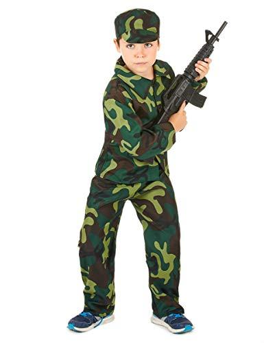 DEGUISE TOI Déguisement Militaire Camouflage garçon - M 7-9 Ans (120-130 cm)