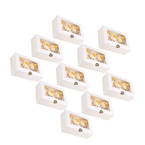 Tomaibaby 10 Stück Cupcake Box Muffin Karton mit Fenster für 6 Gebäck Papier Geschenkboxen OHNE Aufkleber Leer Dessert Macaron Kuchen Torte Kekse Geschenkverpackung Hochzeit Geburtstag Weihnachten