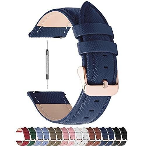 HAOHANYOUPIN, cinturino in pelle classica da 14 mm, cinturino per orologio da donna, con fibbia in oro rosa