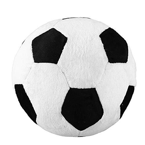 Notewisher Almohadilla de Tiro de Futbol Bola de los Deportes de Peluche Juguete de Peluche Suave para ninos Regalo para ninos, 8 Pulgadas L X 8 Pulgadas An X 8 Pulgadas Al, Negro