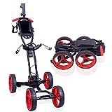 Golf Trolley Electric Golf Trolley Cart Foldable Golf Push Pull Cart with Handbrake