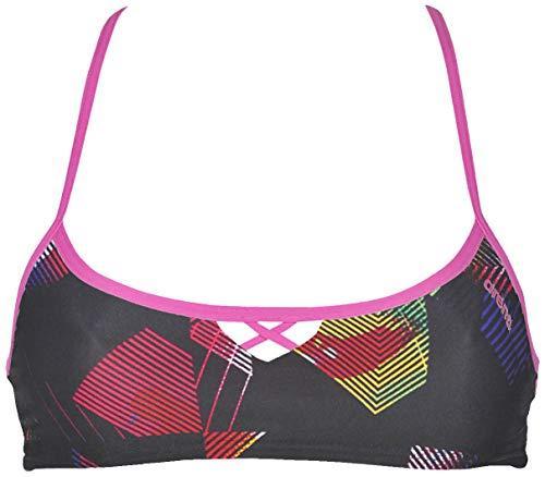 ARENA Damen Rule Breaker Be Bandeau MaxLife Bikini Top, Damen, Badeanzug, Rulebreaker Bandeau Be, Geometrische Mehrfarbig, Medium