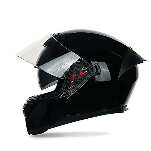 Bluetooth Integrado Casco de Moto Modular con Doble Visera DOT/ECE Homologado Anti Niebla Visera para Respuesta Automática Hombres Mujeres G,L=59~60CM