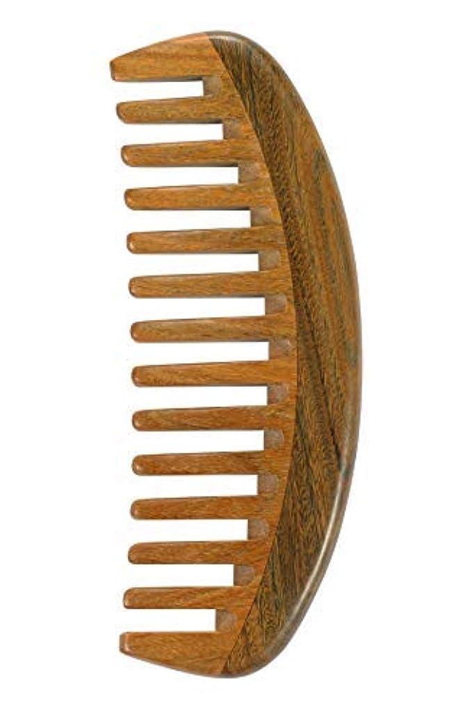 アラーム獣銃Louise Maelys Sandalwood Wide Tooth Hair Comb for Detangling - Anti Static Wooden Comb for Curly Thick Hair [並行輸入品]