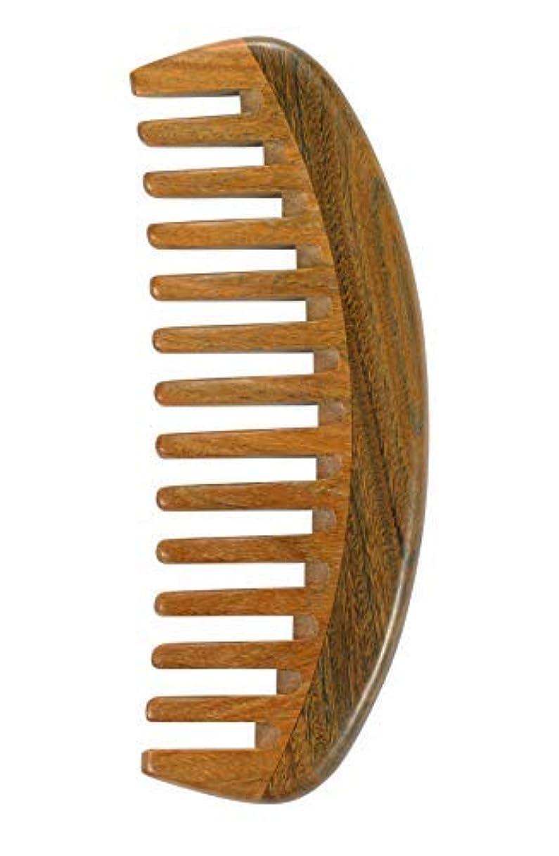 実験室北東測定可能Louise Maelys Sandalwood Wide Tooth Hair Comb for Detangling - Anti Static Wooden Comb for Curly Thick Hair [並行輸入品]