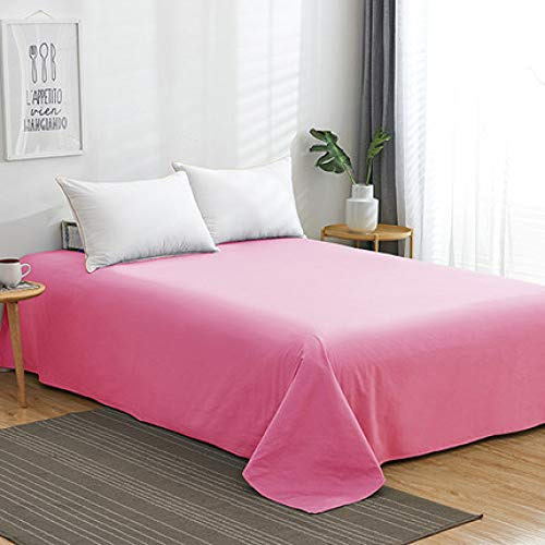 GUOYUN Microfibre Flat Sheet,luxurious No-iron Bed Sheet Is Breathable, Keeping You Cool Comfortable - This Hypoallergenic Top Sheet Is Oh-so-soft(send A Pair Of Pillowcases),F1-195x235cm(77x93inch)