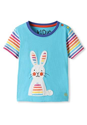 kIDio Organic Cotton - Baby Infant Toddler T-Shirt Rainbow Bunny...