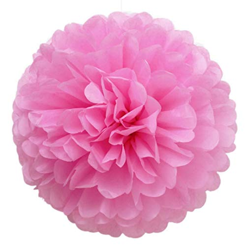 Party Paper Decorations 10Pcs/Lot 15-30Cm Tissue Paper Pom Poms Decorative Handmade Paper Flower Ball for Home Garden Wedding Birthday Party Decoration