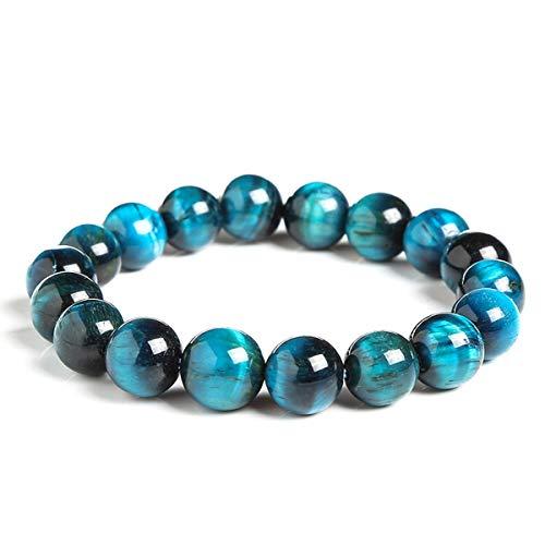 Grasschen Blau Naturstein-runde Korn-Elastizität-Seil-Männer Frauen-Armband-6mm