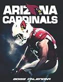 """Arizona Cardinals 2022 Calendar: SPORT Calendar 2022-2023 – 18 months – BIG SIZE 17""""x11"""". Planner for all fans kids boys"""