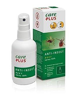 Care Plus Spray Anti-Insectes, À Base de 50% de DEET, Pour Toutes les Destinations, 8h de Protection, Pour 1 Adulte, 60 ml