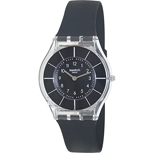Swatch BLACK CLASSINESS Ladies Watch SFK361: Watches