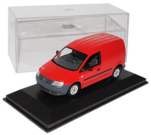 Minichamps Volkwagen Caddy Kasten Transporter Rot 2003-2010 1/43 Modell Auto mit individiuellem Wunschkennzeichen