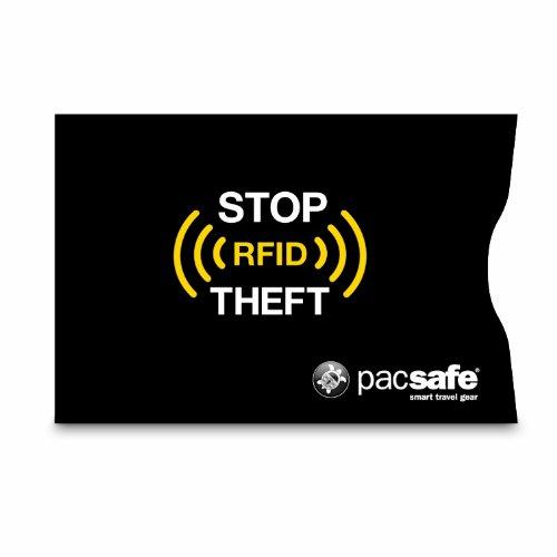 Pacsafe RFID 25 - Porta carta di credito, colore: Nero