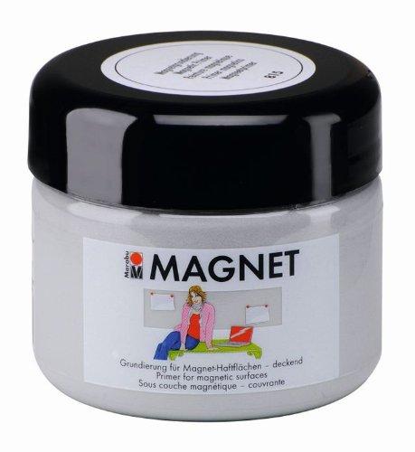 Marabu 02600025815 - Magnetfarbe 225 ml, Acrylgrundierung für magnetische Flächen, nach Trocknung übermalbar, wasserfest und lichtecht, 3 - 4 Schichten kreuzweise auftragen für bessere Magnetkraft