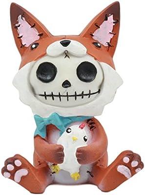 Furrybones Fen The Fox Chicken Lover Skeleton Monster Ornament Figurine