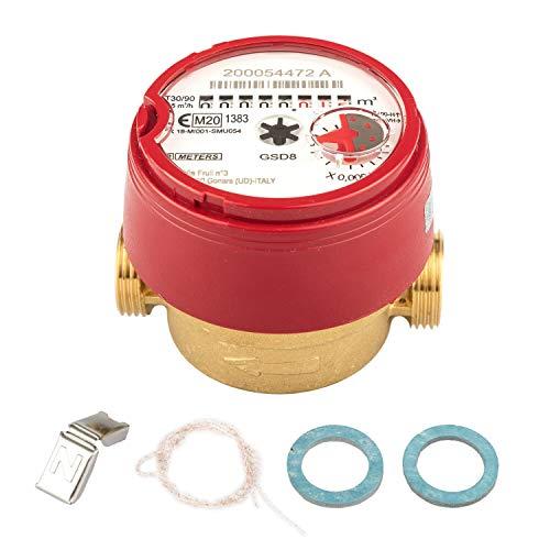 Contador de agua 2019 QN 1,5 agua caliente, BL 80 mm 1/2