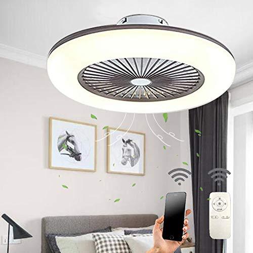 Deckenventilator mit Beleuchtung, Leise Ventilator mit Fernbedienung Dimmen Timing-funktion, 36w Moderne Led Deckenlampe Passend für Kinderzimmer Schlafzimmer Wohnzimmer Innen, [Energieklasse A++]