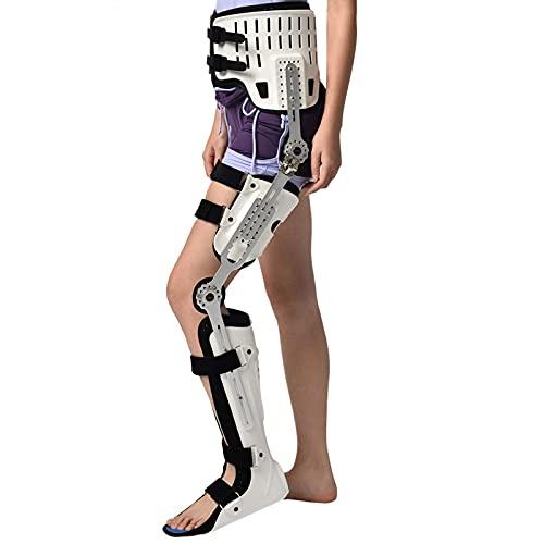 Cadera, rodilla, tobillo, pie, ortesis, fractura de pierna, parálisis de la extremidad inferior, marcha de cadera fija con botas para caminar Ortesis de rodilla, soporte de ligamento, izquierd