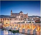 ZZXSY Puzzles 1000 Piezas Adultos Juegos De Madera Puente Romano Y Río Guadalquivir Gran Mezquita Córdoba España Regalo Personalizado