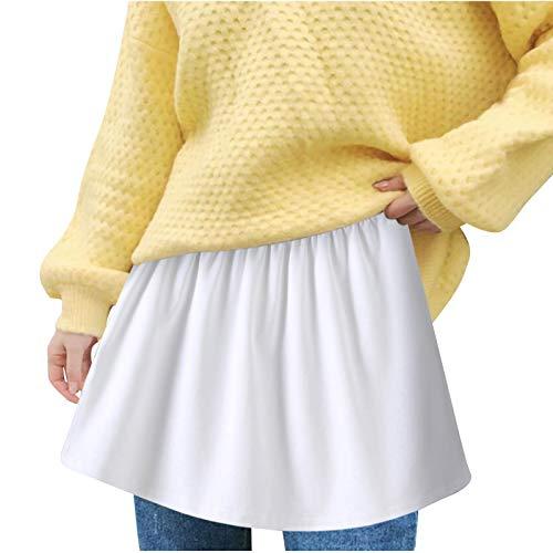 riou Falda Mujer Mini Corto Elstica Parte Superior Falsa Ajustable con Capas Inferiores, para Mujeres y nias, Ajustable, Corte Corto y Alto